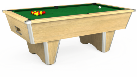 7ft Elite Free Play in Light Oak with Hainsworth Elite-Pro English Green cloth