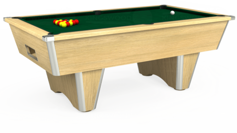 7ft Elite Free Play in Light Oak with Hainsworth Elite-Pro Spruce cloth