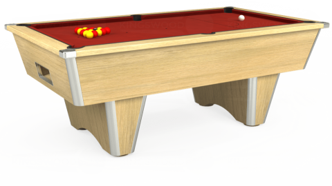 7ft Elite Free Play in Light Oak with Hainsworth Smart Cherry cloth