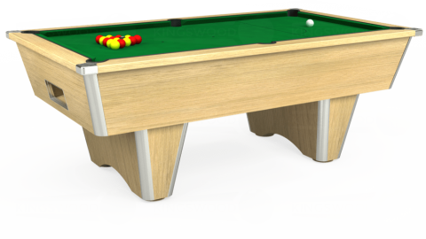7ft Elite Free Play in Light Oak with Hainsworth Smart Olive cloth