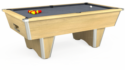 7ft Elite Free Play in Light Oak with Hainsworth Smart Silver cloth