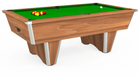 6ft Elite Free Play in Light Walnut with Standard Green cloth