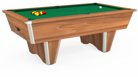 7ft Elite Free Play in Light Walnut with Hainsworth Elite-Pro American Green cloth