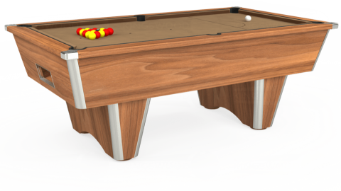 7ft Elite Free Play in Light Walnut with Hainsworth Elite-Pro Camel cloth