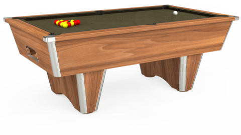 7ft Elite Free Play in Light Walnut with Hainsworth Elite-Pro Olive cloth