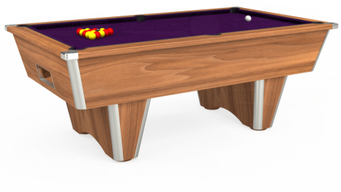 7ft Elite Free Play in Light Walnut with Hainsworth Elite-Pro Purple cloth