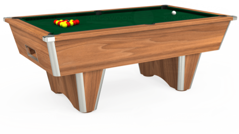 7ft Elite Free Play in Light Walnut with Hainsworth Elite-Pro Spruce cloth