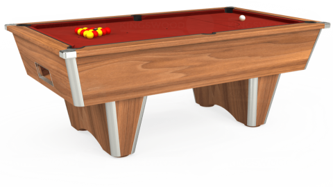 7ft Elite Free Play in Light Walnut with Hainsworth Smart Cherry cloth