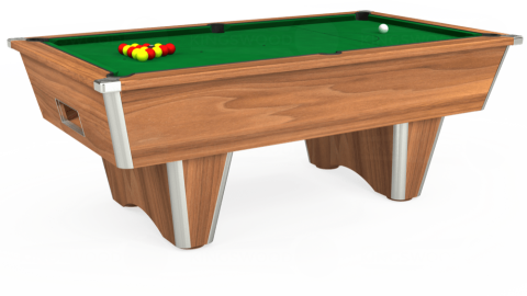 7ft Elite Free Play in Light Walnut with Hainsworth Smart Olive cloth