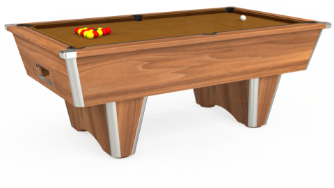 7ft Elite Free Play in Light Walnut with Hainsworth Smart Tan cloth