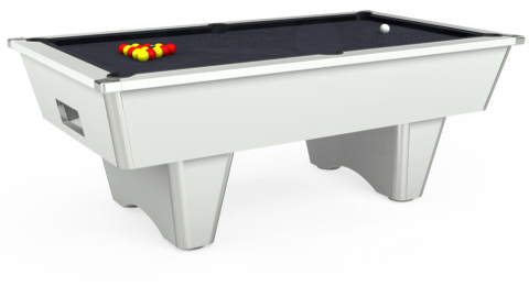 7ft Elite Free Play in White with Hainsworth Elite-Pro Charcoal cloth