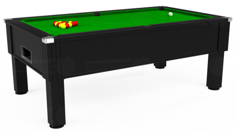 6ft Emirates Free Play in Black with Standard Green cloth