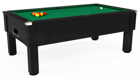 7ft Emirates Free Play in Black with Hainsworth Elite-Pro American Green cloth