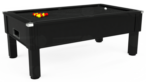 7ft Emirates Free Play in Black with Hainsworth Elite-Pro Black cloth