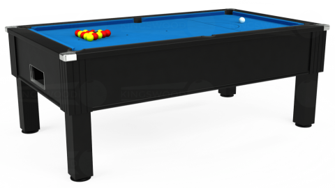7ft Emirates Free Play in Black with Hainsworth Elite-Pro Electric Blue cloth