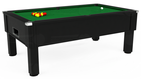 7ft Emirates Free Play in Black with Hainsworth Elite-Pro English Green cloth