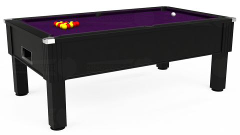 7ft Emirates Free Play in Black with Hainsworth Elite-Pro Purple cloth