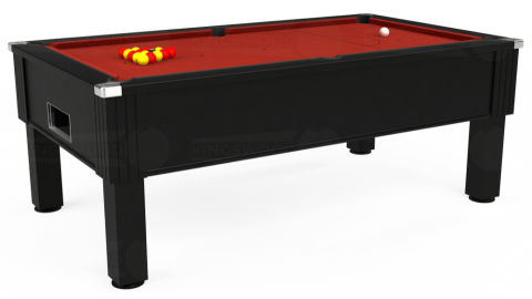 7ft Emirates Free Play in Black with Hainsworth Elite-Pro Red cloth