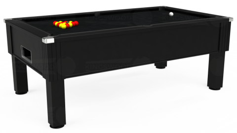 7ft Emirates Free Play in Black with Hainsworth Smart Black cloth