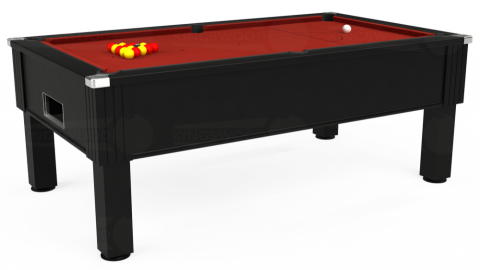 7ft Emirates Free Play in Black with Hainsworth Smart Cherry cloth