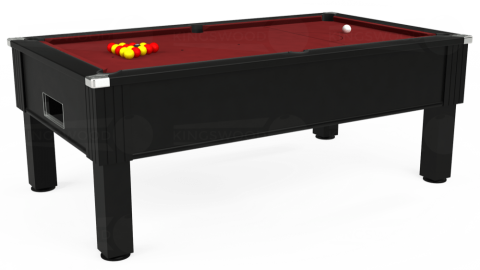 7ft Emirates Free Play in Black with Hainsworth Smart Maroon cloth