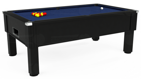 7ft Emirates Free Play in Black with Hainsworth Smart Navy cloth