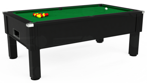 7ft Emirates Free Play in Black with Hainsworth Smart Olive cloth