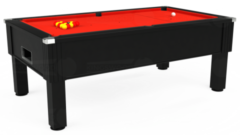 7ft Emirates Free Play in Black with Hainsworth Smart Orange cloth