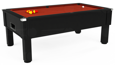 7ft Emirates Free Play in Black with Hainsworth Smart Paprika cloth