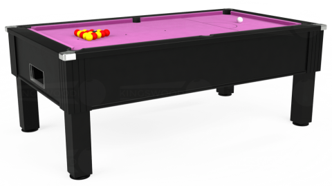 7ft Emirates Free Play in Black with Hainsworth Smart Pink cloth