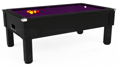 7ft Emirates Free Play in Black with Hainsworth Smart Purple cloth