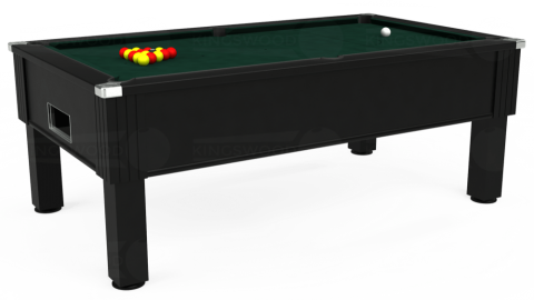 7ft Emirates Free Play in Black with Hainsworth Smart Ranger Green cloth