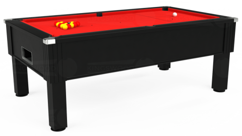 7ft Emirates Free Play in Black with Hainsworth Smart Red cloth