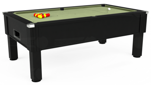 7ft Emirates Free Play in Black with Hainsworth Smart Sage cloth