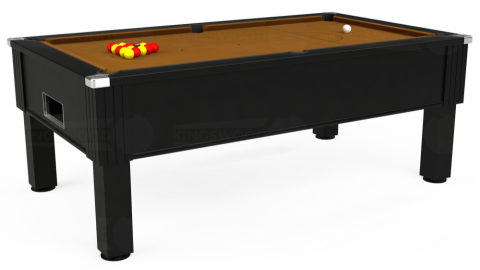 7ft Emirates Free Play in Black with Hainsworth Smart Tan cloth