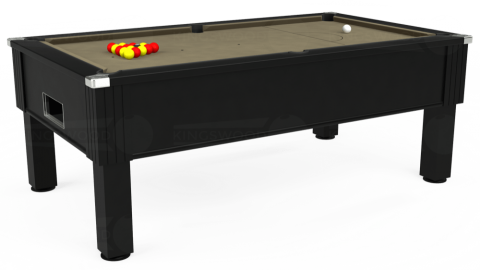7ft Emirates Free Play in Black with Hainsworth Smart Taupe cloth