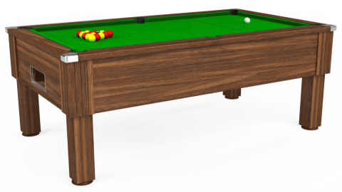 7ft Emirates Free Play in Dark Walnut with Standard Green cloth