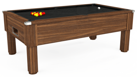 6ft Emirates Free Play in Dark Walnut with Hainsworth Elite-Pro Black cloth