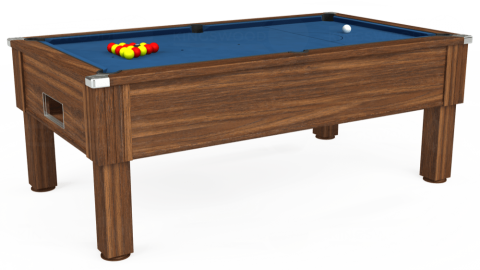 7ft Emirates Free Play in Dark Walnut with Hainsworth Elite-Pro Cadet Blue cloth