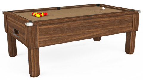 7ft Emirates Free Play in Dark Walnut with Hainsworth Elite-Pro Camel cloth