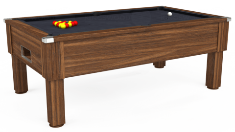 7ft Emirates Free Play in Dark Walnut with Hainsworth Elite-Pro Charcoal cloth