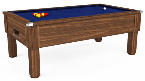 7ft Emirates Free Play in Dark Walnut with Hainsworth Elite-Pro Royal Blue cloth