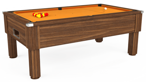 7ft Emirates Free Play in Dark Walnut with Hainsworth Smart Gold cloth