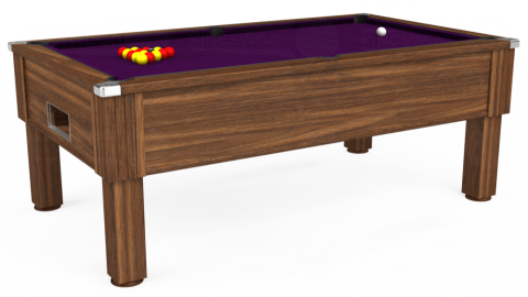 7ft Emirates Free Play in Dark Walnut with Hainsworth Smart Purple cloth