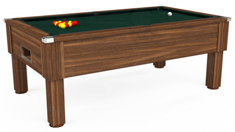 7ft Emirates Free Play in Dark Walnut with Hainsworth Smart Ranger Green cloth