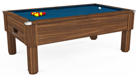 7ft Emirates Free Play in Dark Walnut with Hainsworth Smart Slate cloth