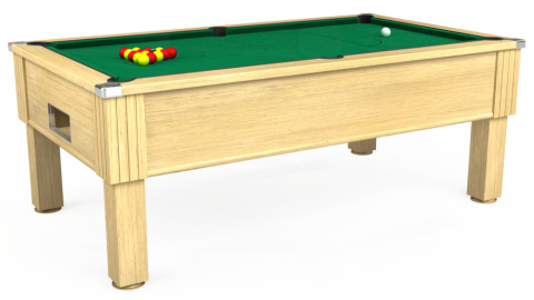 7ft Emirates Free Play in Light Oak with Hainsworth Elite-Pro American Green cloth