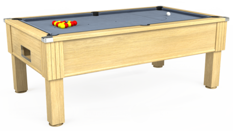 7ft Emirates Free Play in Light Oak with Hainsworth Elite-Pro Bankers Grey cloth