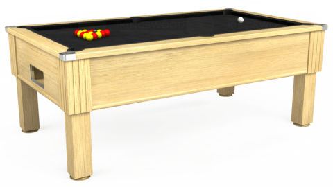 7ft Emirates Free Play in Light Oak with Hainsworth Elite-Pro Black cloth
