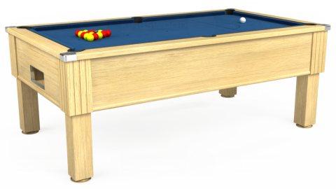 7ft Emirates Free Play in Light Oak with Hainsworth Elite-Pro Cadet Blue cloth
